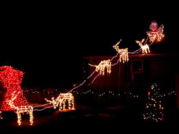 outdoor lighted reindeer lighting ideas scheme of santa outdoor lighted santa sleigh and reindeer attractive how to