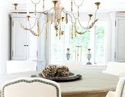 french country chandelier dining room wooden