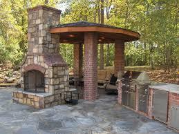 brick outdoor fireplace plans