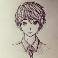 Draw Anime Boy Easy Cute Drawings To For Beginners In Pencil That