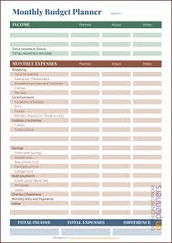 Free Printable Monthly Budget Planner