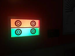 Vintage Eye Chart Light Box Snellen Eye Chart Light Box Vintage Cool Wall Hanger