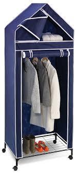 rolling wardrobe rack image