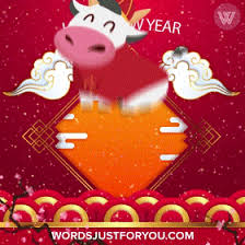Happy chinese new year 2021 year of the ox flower and asian elements with craft style on background. Qmm3nwfg6vvysm