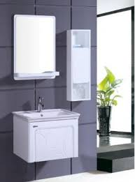 wall mounted bathroom vanity. PVC Bathroom Vanity Cabinet In Pure White P7210. High Glossy Finish Wall Hung Mounted