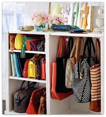 organizing purses in closet hanging handbags how