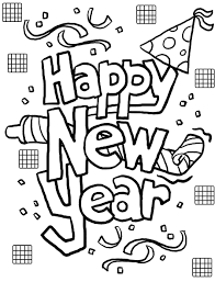 Print Out Happy New Year Coloring