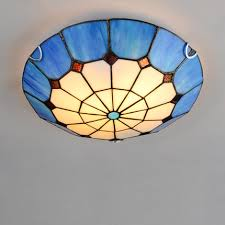mediterranean style lighting. Mediterranean Style Tiffany Blue Ceiling Lamp Home Living Room Bedroom Light Shell Design Lighting