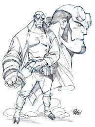 Hellboy Sketch By Mike Wieringo