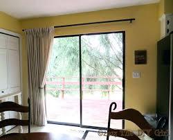 door curtain rods sliding patio door dry rods