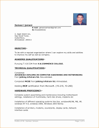 Resume For Job Format Resume Format Template Free Download In Ms Word For Freshers India 44