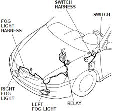 honda accord foglight wiring harness