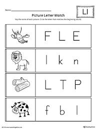Picture Letter Match Letter L Worksheet