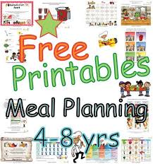 Summary Meal Plans For Four To Eight Year Old Children Food