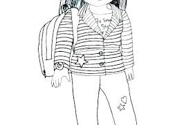 American Girl Coloring Pages Free Girl Doll Coloring Pages Free