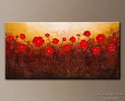 poppy meadow abstract art painting image by carmen guedez