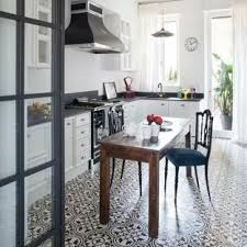 Wood and tile floor designs Wood Colored Midsized Farmhouse Eatin Kitchen Designs Inspiration For Midsized Builddirect Black And White Tile Floor Kitchen Ideas Photos Houzz