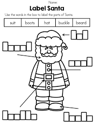 Labeling Christmas Worksheet – Festival Collections