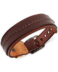 fossil men s wide brown leather bracelet fashion jewelry fossil men s wide brown leather bracelet fashion jewelry jewelry watches macy s