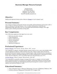 Entry Level Management Resume Examples Business Management Curriculum Vitae Samplessume Degree