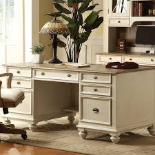 com coventry two tone executive desk w drawers weathered driftwood dover white office desks office s