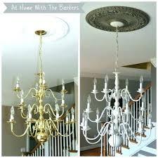brass chandelier makeover brass chandelier painted black painted chandelier chandelier makeover chandelier makeover spray painting and
