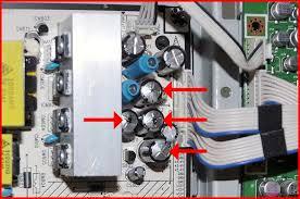 samsung tv capacitor. samsung lcd tv power board capacitor closeup tv