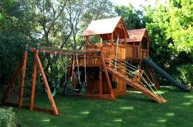 kids garden playhouse outdoor children slide