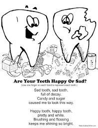 Small Picture Free Dental Coloring Pages for kids How To Brush Good Dental