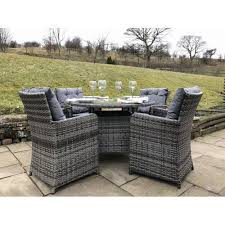 rattan outdoor 4 seat round garden dining set in grey 8651 1 p jpg
