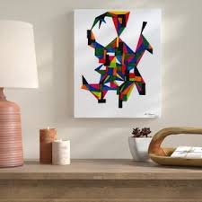 three dimensional painting print on wrapped canvas on diy dimensional wall art with colorful three dimensional wall art wayfair