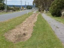 drainage ditch 2008 december meander tasmania spraying drainage ditch australian
