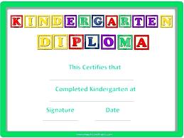 free preschool certificates free award certificate templates for kindergarten sample