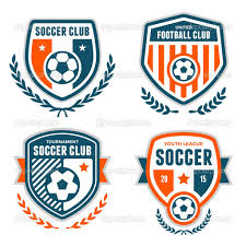Football Emblem Design Soccer Crests Stock Illustration 48703707 Football Logo