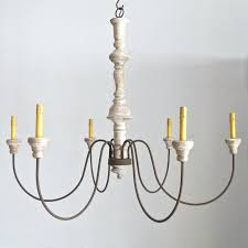 candle style chandelier white
