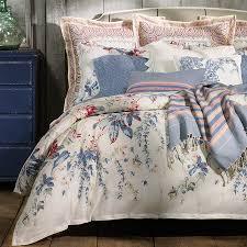 veronique bedspread lucie plaid blue