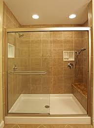 shower stall lighting. Inspiring Picture Of Small Bathroom With Shower Stall Decoration Using Square Travertine Tile Wall Including Lighting U