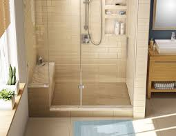 shower stall kits for small bathrooms shower stall kit with seat interior amp exterior doors design