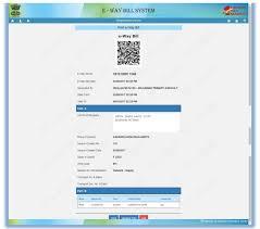Bill Format Gst E Way Bill Generate Form Ewb 01 Online Format Faqs
