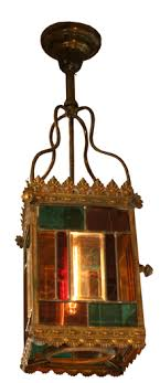 colored glass lighting. Brass And Colored Glass Light Fixture Colored Glass Lighting