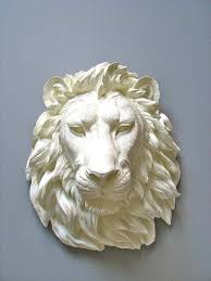 lion wall art beautiful faux taxidermy lion head wall decor wall hanging