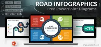 Infographic For Powerpoint Road Infographics For Powerpoint Showeet Com