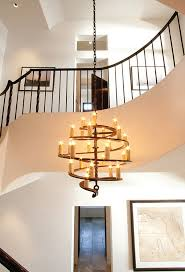 view in gallery spiral cascading chandelier looks both modern and rustic at the same time