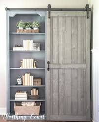 cherry bookcase with doors farmhouse style bookcases with a sliding barn door cherry bookshelves with glass doors
