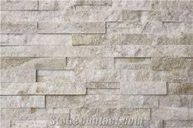 white quartzite wall stone natural