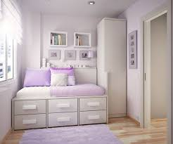 deluxe teenage bedroom furniture design with drawers under bed and cute purple mat and cool white bedroom furniture for tweens