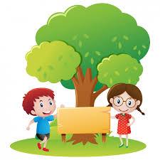 Tree Design Kids Under A Tree Design Vector Free Download
