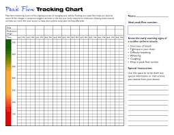 Asthma Management Flow Chart Blank Peak Flow Chart Printable Templates At