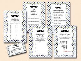 Little Man Baby Shower PRINTABLE Baby Shower Games  My Party DesignFree Printable Mustache Baby Shower Games