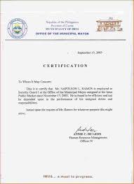 Sample Of Clearance Certificate Of Employment 2018 Sample Of